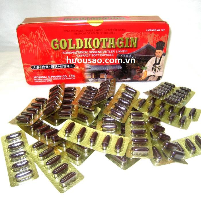 Viên Sâm Nhung Linh Chi GoldKotagin 120 viên